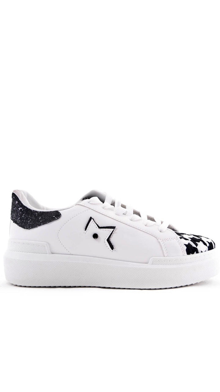 Rachel Star Trainers in White/Black