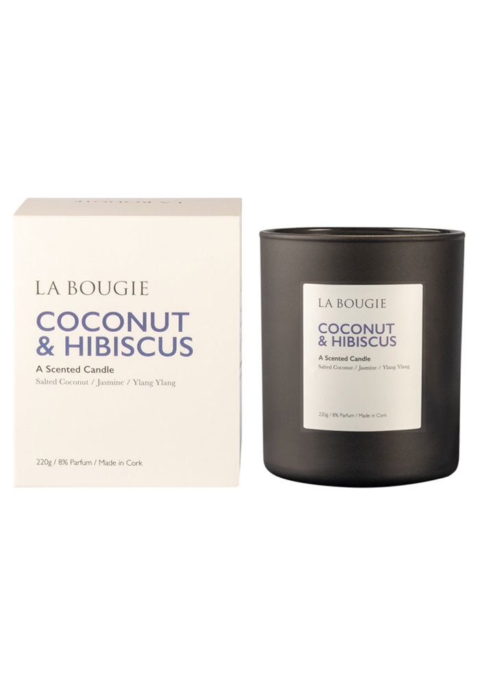Coconut & Hibiscus Scented Candle by La Bougie
