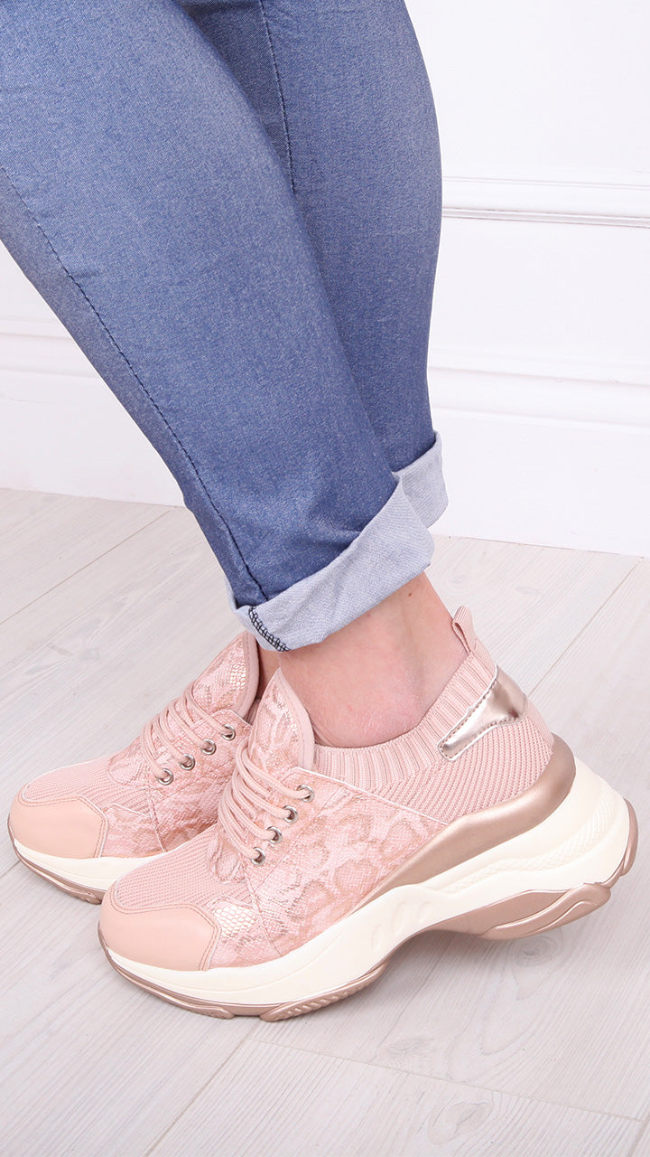 Sally Trainers in Blush