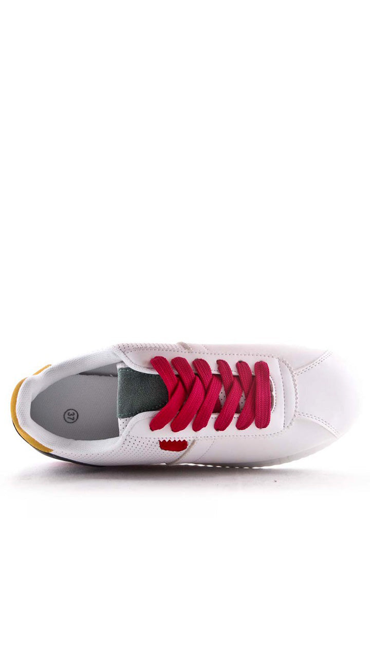 Hayley Trainers in Fuschia/Yellow