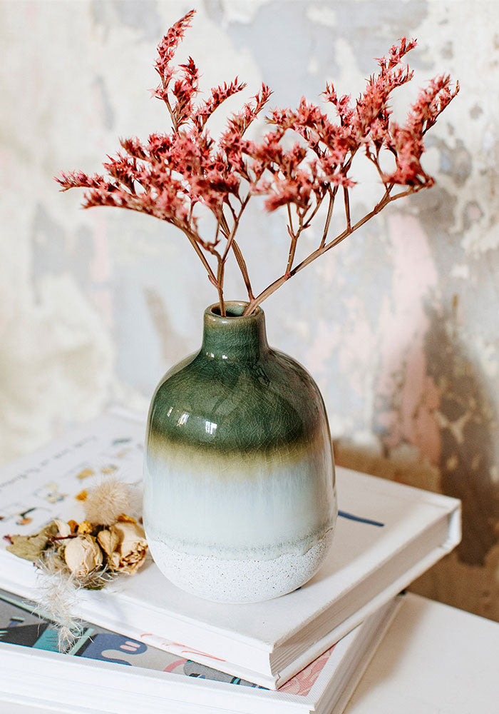 Mojave Glaze Mini Green Vase