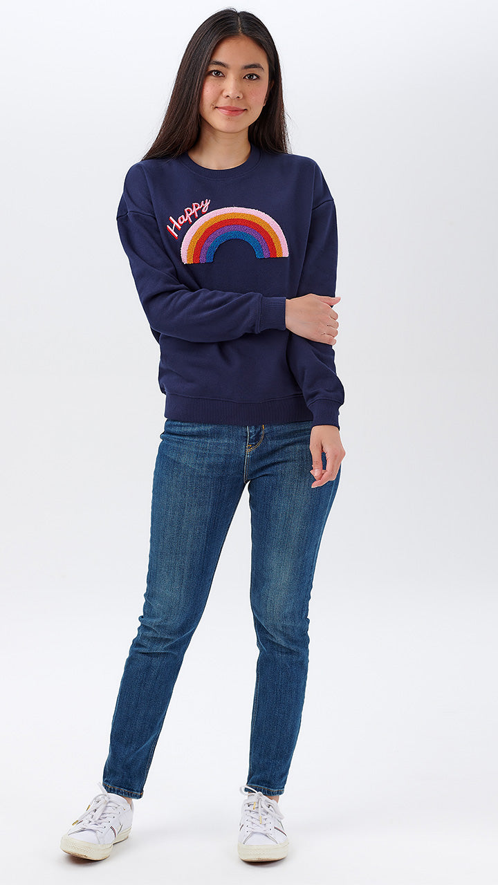 Noah Happy Rainbow Sweater by Sugarhill Brighton