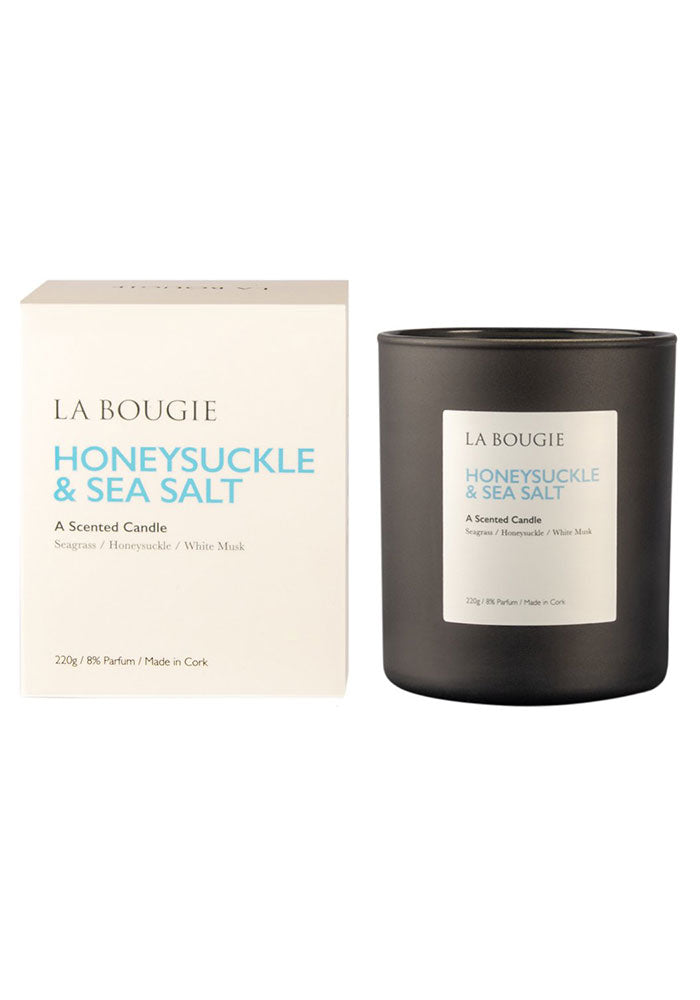 La Bougie Scented Candle in Honeysuckle & Sea Salt