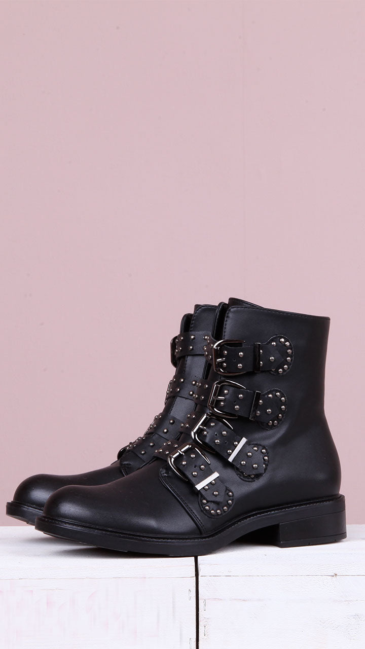 Juliana Buckle Boots