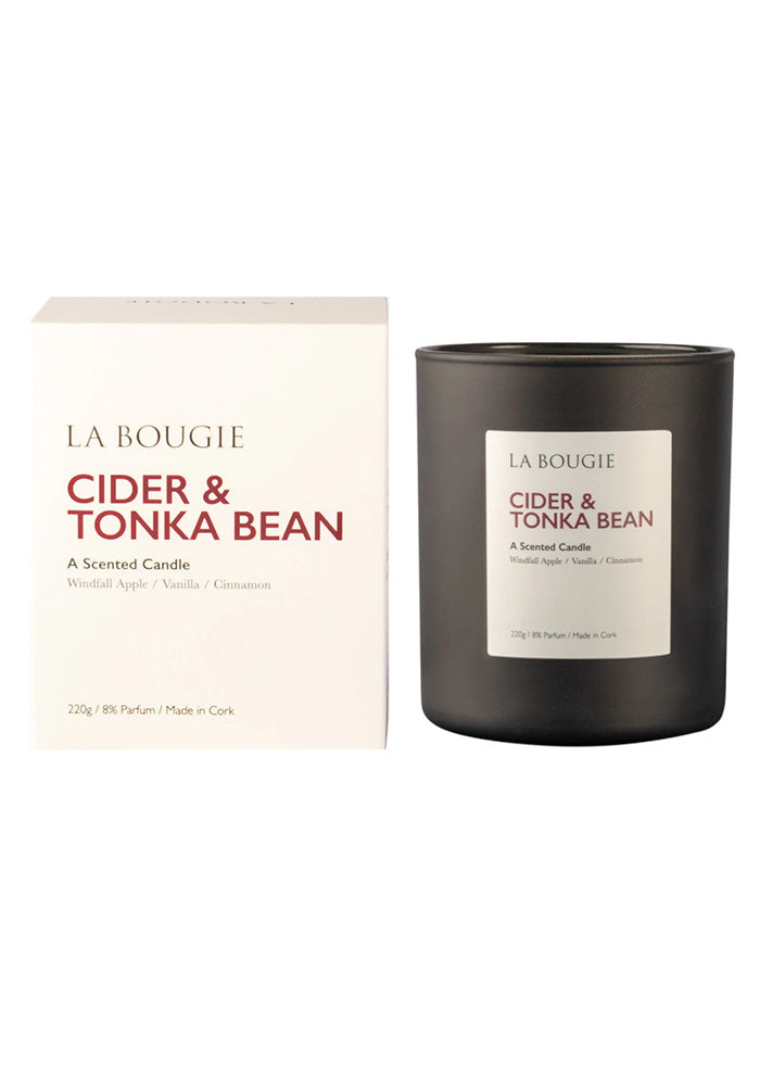 Cider and Tonka Bean Scented Candle by La Bougie