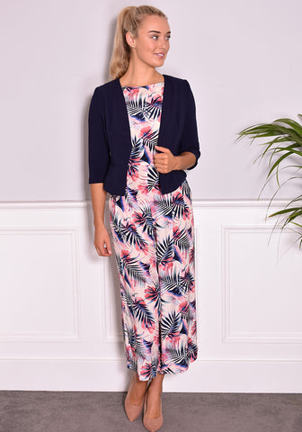 Latifa Print Jumpsuit by Traffic People in Cream-Jumpsuits-Redlane.ie