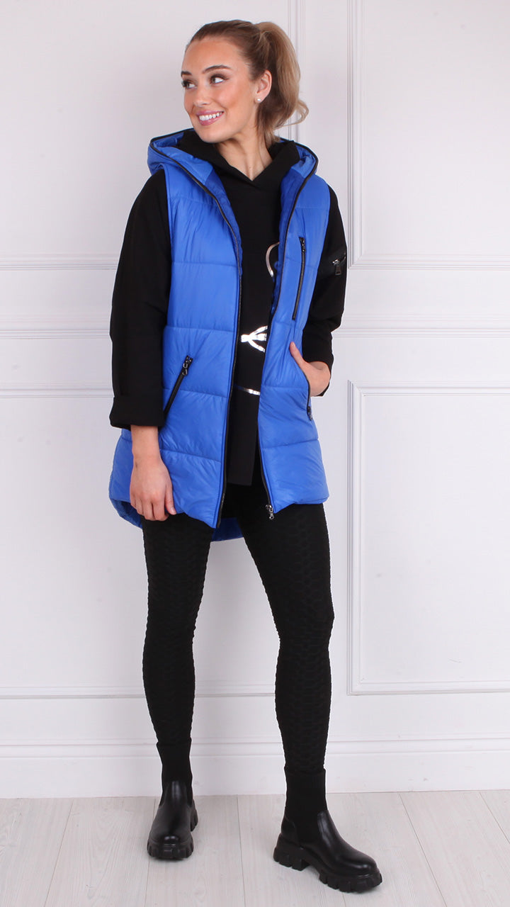 Maura Padded Gilet in Royal Blue