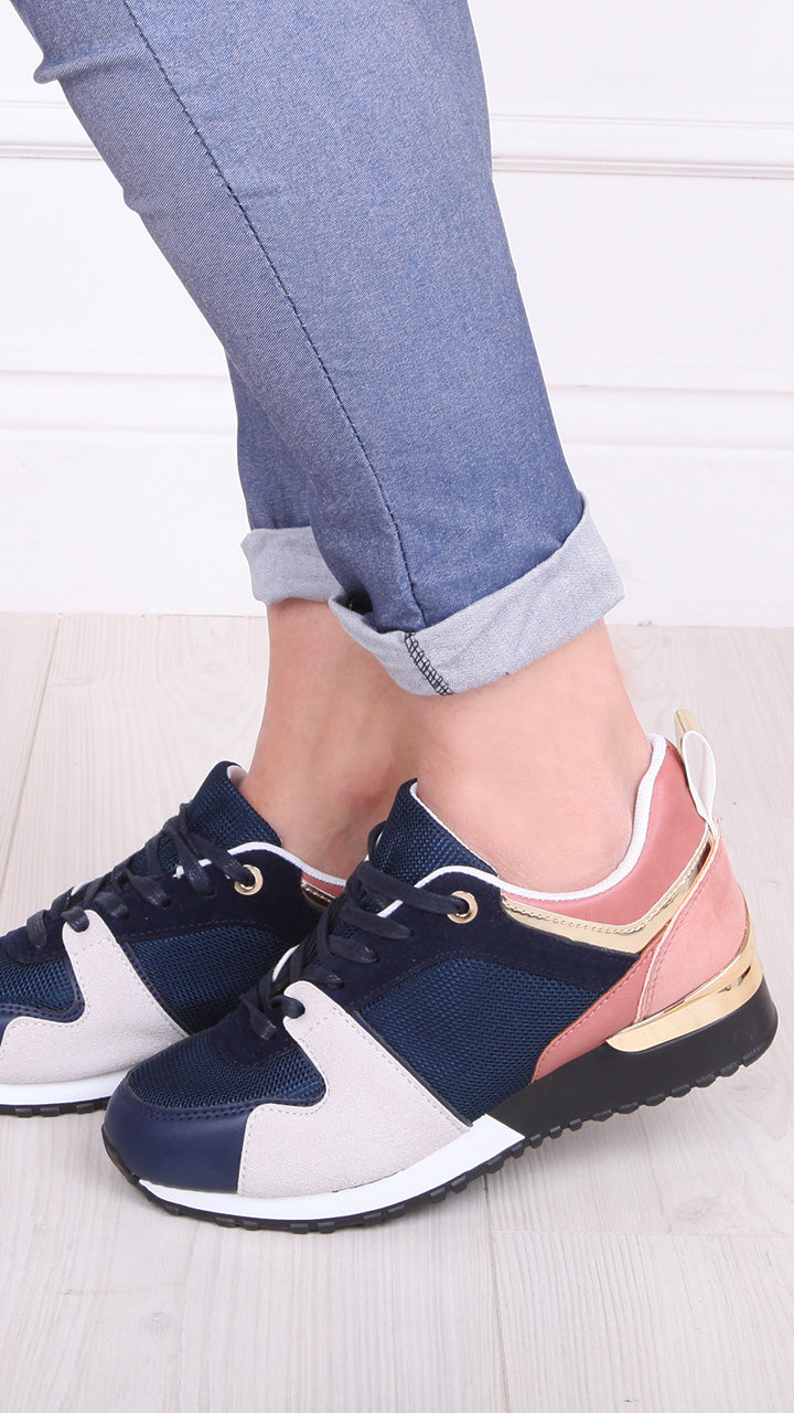Julie Trainers in Navy