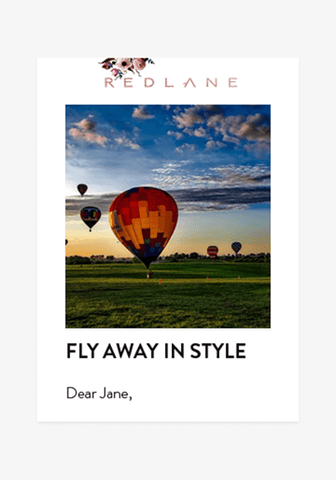 FLY AWAY IN STYLE-Gift Card-Redlane.ie
