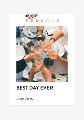 BEST DAY EVER-Gift Card-Redlane.ie