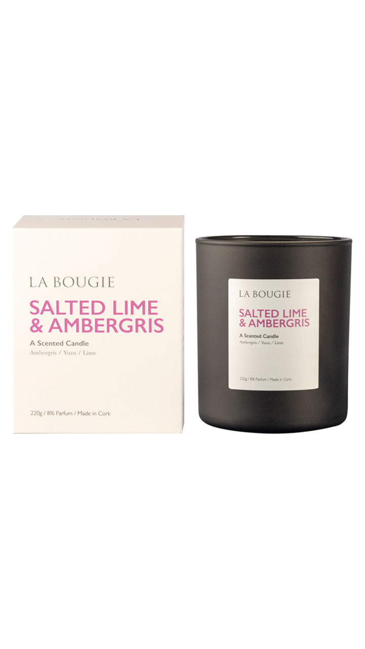 Salted Lime & Ambergris Scented Candle by La Bougie