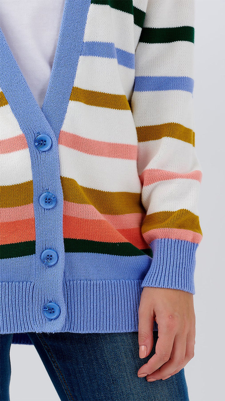 Vika Stripe Cardigan by Sugarhill Brighton