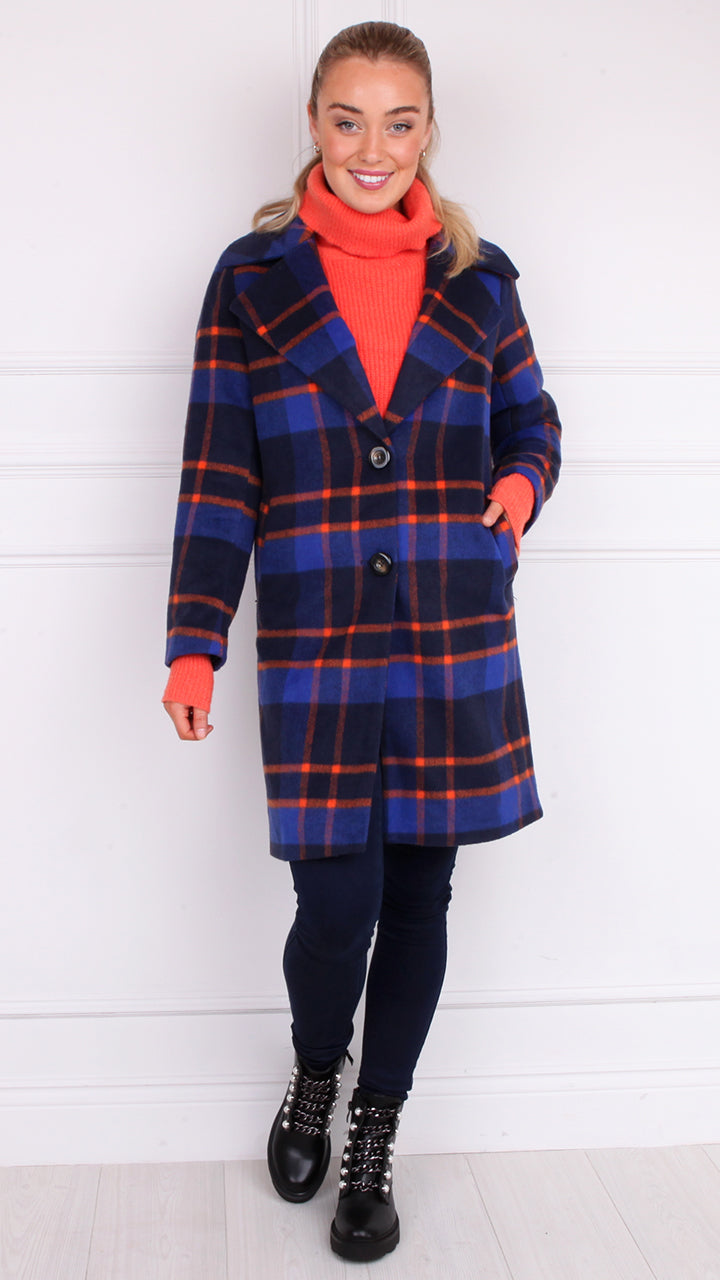 Taylor Wool Mix Check Coat
