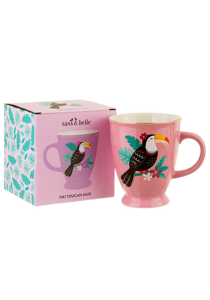 Pink Tommy The Toucan Porcelain Mug