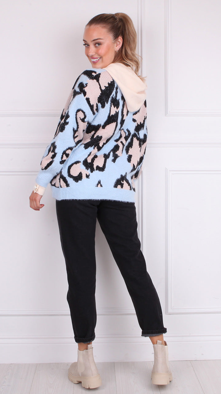 Trina Supersoft Open Cardigan in Baby Blue
