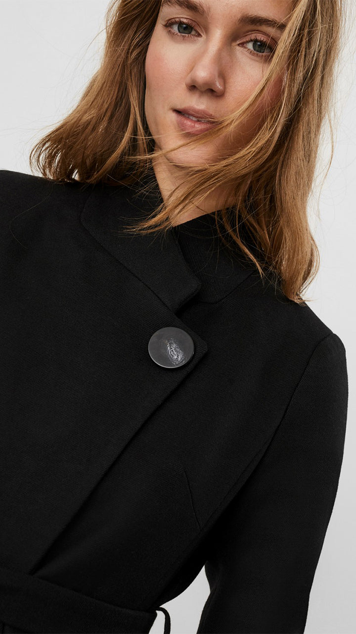 Juhi Button Coat by Vero Moda in Black