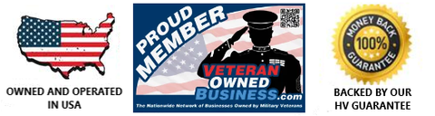 Owned and Operated in U.S.A. Veteran Owned Business, 100 Percent Money Back Guarantee