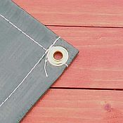 Swing Set Paradise offers Custom Vinyl Tarps & Canopies. Pictured Here are Grommets.