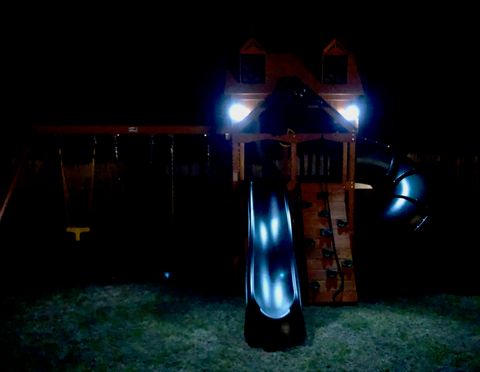 Gorilla Playsets Malibu Solar Lights at Night