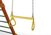 "Trapeze Bar 21"" with Rings Swings - Swing Set Paradise"