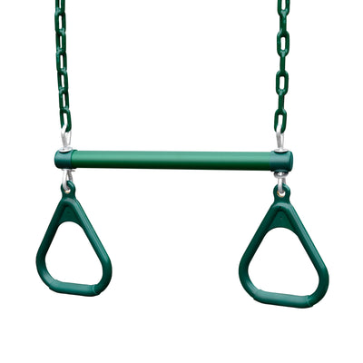 "Trapeze Bar 17"" With Rings - Swing Set Paradise"