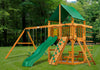 Gorilla Playsets Chateau Deluxe Green Vinyl Swing Set