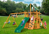 Gorilla Playsets Chateau Clubhouse Deluxe Vinyl Canopy Swing Set - Swing Set Paradise