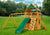 Gorilla Playsets Chateau Clubhouse Wood Roof Swing Set - Swing Set Paradise