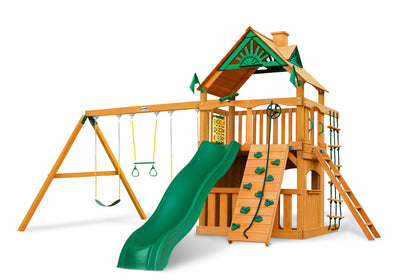 Gorilla Playsets Chateau Clubhouse Wood Roof Swing Set