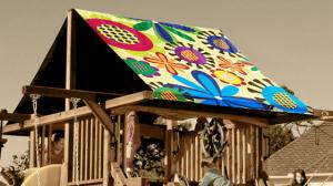Flower Power Custom Graphic Tarp