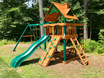 Gorilla Chateau Wood Roof Assembly Swing Set Paradise Installation