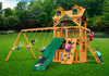 Gorilla Playsets Chateau Clubhouse Malibu Roof Swing Set