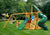 Gorilla Playsets Mountaineer Clubhouse Wood Roof Swing Set - Swing Set Paradise