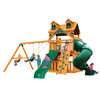 Gorilla Playsets Mountaineer Clubhouse with Malibu Roof Swing Set - Swing Set Paradise