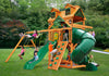 Gorilla Playsets Mountaineer Malibu Wood Roof Swing Set (01-0046-AP)