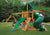 Gorilla Playsets Mountaineer Sunbrella Forest Green Canopy Swing Set - Swing Set Paradise