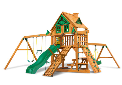 Gorilla Playsets Frontier TreeHouse Swing Set Swing Set Paradise