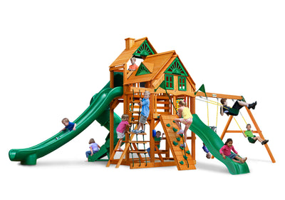 Gorilla Playsets Great Skye II Treehouse Swing Set - Swing Set Paradise