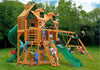 Gorilla Playsets Great Skye I Malibu Wood Roof Swing Set