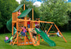 Gorilla Playsets Great Skye I Sunbrella Forest Green Canopy Swing Set - Swing Set Paradise