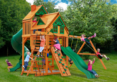 Gorilla Playsets Great Skye I Treehouse Swing Set - Swing Set Paradise
