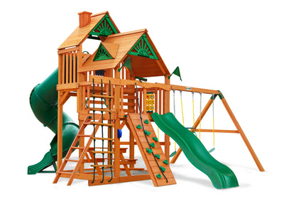 Gorilla Playsets Great Skye I Wood Roof Swing Set