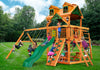 Gorilla Playsets Navigator Malibu Wood Roof Swing Set