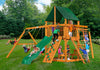 Gorilla Playsets Navigator Sunbrella Forest Green Swing Set
