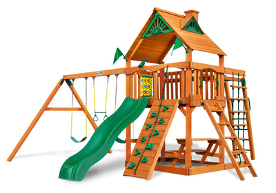 Gorilla Playsets Navigator Wood Roof Swing Set Kids 01-0020-AP