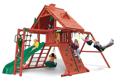 Gorilla Playsets Sun Palace II Swing Set Studio w/Kids