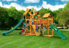 Gorilla Playsets Treasure Trove II Malibu Roof Wood Swing Set Paradise