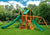 Gorilla Playsets Great Skye II Sunbrella Forest Green Canopy Swing Set - Swing Set Paradise