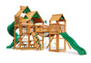Gorilla Playsets Treasure Trove I Wood Roof Swing Set - Swing Set Paradise