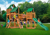Gorilla Playsets Treasure Trove I Sunbrella Forest Green Canopy Swing Set - Swing Set Paradise